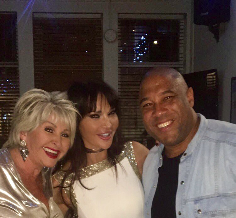 Maggie Oliver with John Barnes