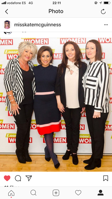 Maggie Oliver with the Loose Women ladies